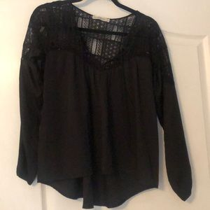 Black Blouse with lacey top